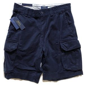Ralph Lauren Polo AVIATR Navy Cargo Shorts-Sz 33